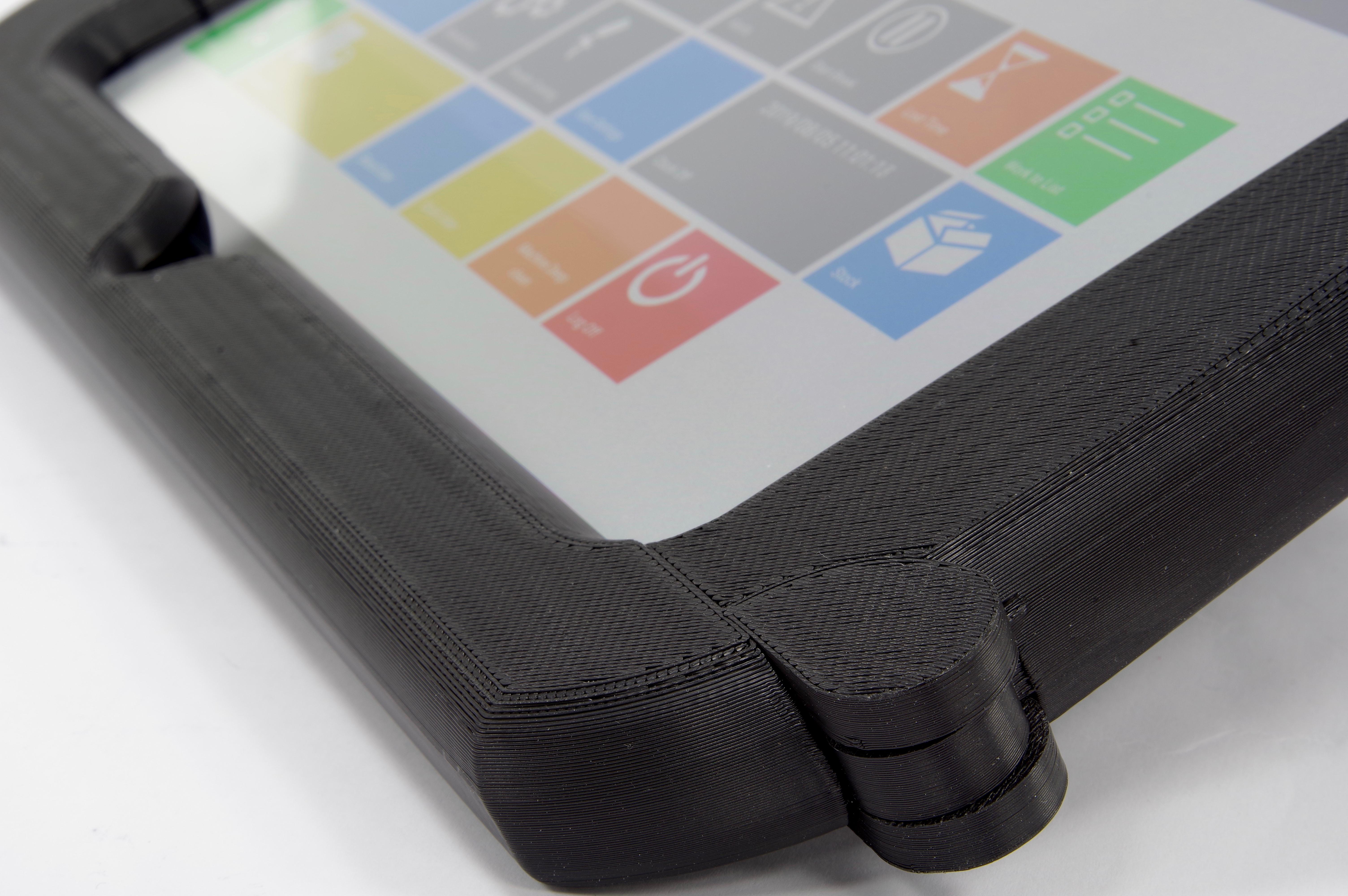 Funda de tableta hecha con termoplástico disipativo electrostático