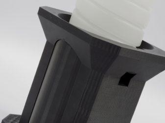 Industrial tooling: toner bottle puck