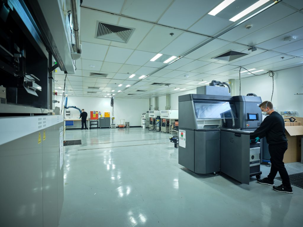Ricoh 3D smart factory showing range of 3D printing and post-processing technologies